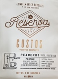 Gustos Reserva Peaberry Bean Coffee 8.oz